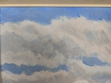 """1980г,Земсков Л.Н""""В деревне"""",к.м.52*72 в раме, фото №3"""