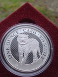 Тигр Индии фунт 1 oz унция серебро 999 проба Остров Св Елены Индийский тигр Тираж 3000 шт, фото №2