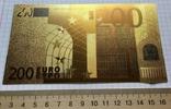 Позолоченная сувенирная банкнота 200 Euro в защитном файле, конверте / сувенір, фото №9