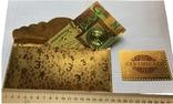 Позолоченная сувенирная банкнота 1000 Euro в подарочном конверте + сертификат / сувенір, фото №4