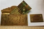 Позолоченная сувенирная банкнота 1000 Euro в подарочном конверте + сертификат / сувенір, фото №5