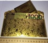 Позолоченная сувенирная банкнота 1000 Euro в подарочном конверте + сертификат / сувенір, фото №7