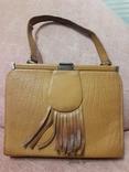Дамская сумочка ридикуль тиснённая кожа 40 - 50-е, фото №2
