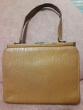 Дамская сумочка ридикуль тиснённая кожа 40 - 50-е, фото №3