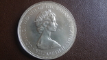 2 доллара 1971 Багамы серебро (Ю.4.4)~, фото №5