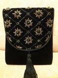 Вечерняя сумка клатч Sorpresa, велюр, бисер, фото №2