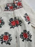 Сорочка весільна святкова конопляна полотняна Миргородська , женская старинная рубаха, фото №5