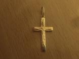 Крест золото 585 пробы, фото №2