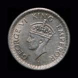 Британская Индия 1/4 рупии 1945 серебро, фото №6