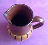 Глечик и чашки. Комплект. Керамика., фото №7