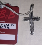 Серебрянный крестик ,2,22гр, фото №2