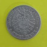 Німецька імперія 2 марки, 1877р. Срібло., фото №3