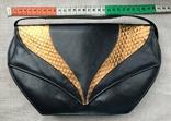 Винтажная кожаная сумка, клатч GINA London Темно синий и золотой цвета, фото №3