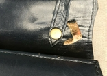Винтажная кожаная сумка, клатч GINA London Темно синий и золотой цвета, фото №7