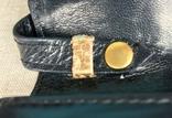 Винтажная кожаная сумка, клатч GINA London Темно синий и золотой цвета, фото №8