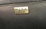 Винтажная кожаная сумка, клатч GINA London Темно синий и золотой цвета, фото №9