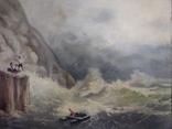 """1900-егг,Нх""""Кораблекрушение"""",фанера.масло,77*92см в раме, фото №3"""