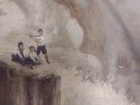 """1900-егг,Нх""""Кораблекрушение"""",фанера.масло,77*92см в раме, фото №4"""