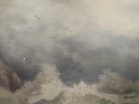 """1900-егг,Нх""""Кораблекрушение"""",фанера.масло,77*92см в раме, фото №11"""