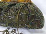 Сумочка в винтажном стиле. Расшивка бисером и стеклярусом. 32х12х20см, фото №4
