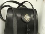 Вечерняя каркасная сумочка обтянутая шелком. Без ручек 16х7х18см, фото №3