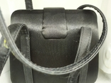 Вечерняя каркасная сумочка обтянутая шелком. Без ручек 16х7х18см, фото №8