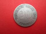 Германия 20 пфенингов D 1874, фото №2