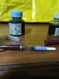 Перьевая ручка + 3 банки чернила, фото №2