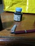 Перьевая ручка + 3 банки чернила, фото №3
