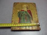 Икона святой пророк Илья дерево литография 18 х 14 см толщина 2 см, фото №4