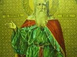 Икона святой пророк Илья дерево литография 18 х 14 см толщина 2 см, фото №7