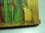 Икона святой пророк Илья дерево литография 18 х 14 см толщина 2 см, фото №8