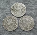 Коронные гроши 1600-х годов. Сиг. ІІІ Ваза ( 3 штуки )., фото №2