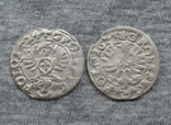 Коронные гроши 1600-х годов. Сиг. ІІІ Ваза ( 2 штуки )., фото №3