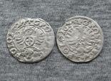 Коронные гроши 1600-х годов. Сиг. ІІІ Ваза ( 2 штуки )., фото №5
