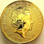 Великобритания 100 фунтов 2021 г. Royal Arms, фото №3