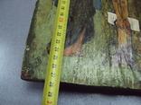 Икона Распятие с предстоящими дерево 27,5 х 23 см, толщина 2 см, фото №3