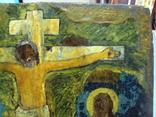 Икона Распятие с предстоящими дерево 27,5 х 23 см, толщина 2 см, фото №6