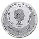 2 Доллара 2021 Ктулху Великий Древний (Серебро 0.999, 31.1г) 1oz, Токелау Унция, фото №3