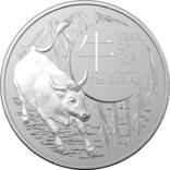 1 Доллар 2021 Лунный календарь - Год быка (Серебро 0.999, 31.1г) 1oz, Австралия Унция, фото №2