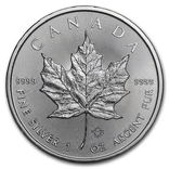 5 Долларов 2021 Кленовый Лист (Серебро 0.999, 31.1г) 1oz, Канада Унция, фото №2