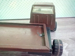 Игрушка, машинка грузовик с прицепом , СССР, фото №4