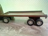 Игрушка, машинка грузовик с прицепом , СССР, фото №10