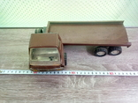 Игрушка, машинка грузовик с прицепом , СССР, фото №13