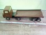 Игрушка, машинка грузовик с прицепом , СССР, фото №2