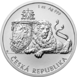 2 Доллара 2019 Чешский Лев (Серебро 0.999, 31.1г) 1oz, Ниуэ Унция, фото №2