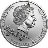 2 Доллара 2019 Чешский Лев (Серебро 0.999, 31.1г) 1oz, Ниуэ Унция, фото №3