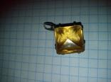 Кулон с цитрином ссср, фото №3