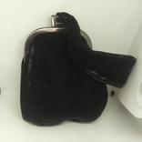 Вечерняя бархатная сумочка с перьями. Высота без ручки 18см. Ширина 12см, фото №8