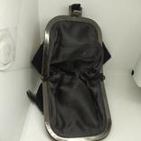 Вечерняя бархатная сумочка с перьями. Высота без ручки 18см. Ширина 12см, фото №9